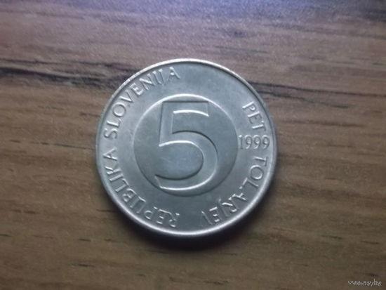 Словения 5 толларов 1999
