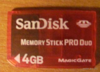 Карта памяти Memory Stick PRO Duo 4GB