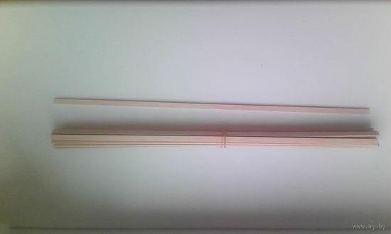 12 Апостолов от Деагостини. Планки из шпона березы 2х5х300 мм - 20 штук.