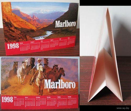 Настольный календарь Marlboro 1998 г.