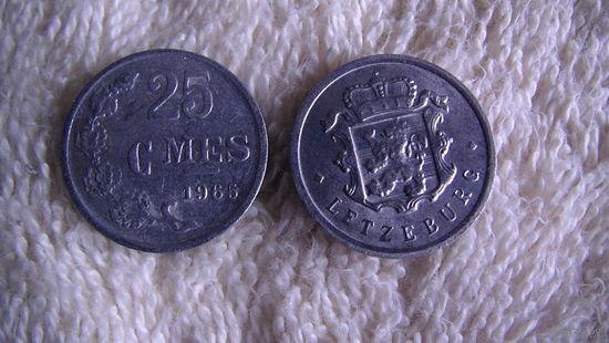 Люксембург 25 сантимов 1965г. распродажа