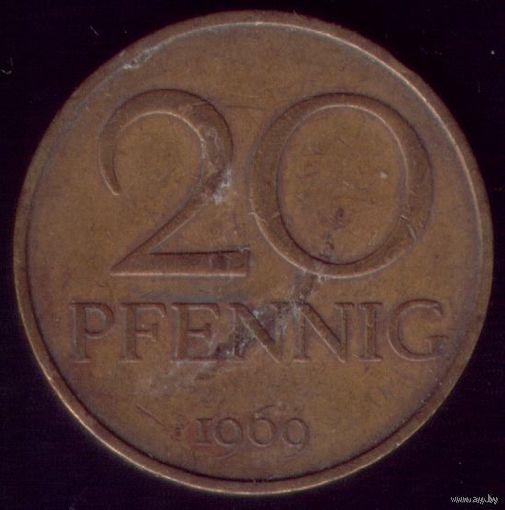 20 пфеннигов 1969 год ГДР