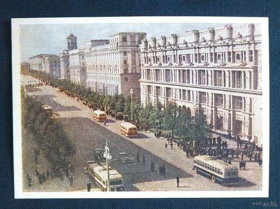 Минск  Проспект  Сталина   1954