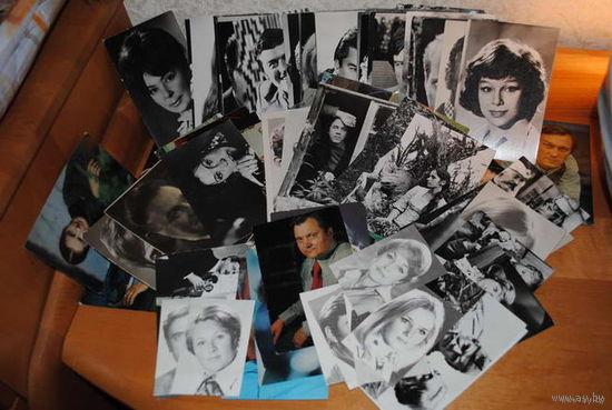 Фото-открытки с актёрами- всего-85 штук-разные года,хорошее коллекционное состояние-продаются только все вместе!