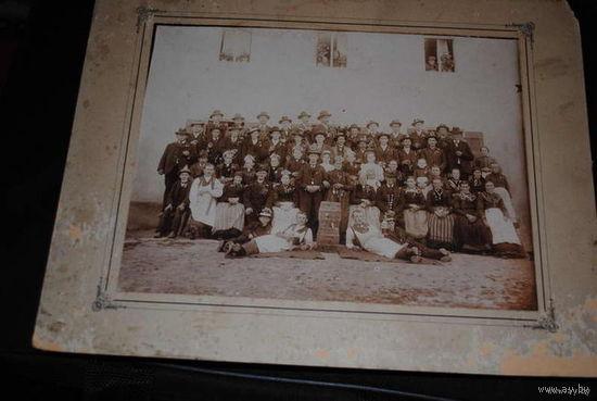 Общая, предположительно Свадебная, фотография большого формата, ещё в национально-обрядовых костюмах Баварии/Германии, - однозначно до 1917 года!