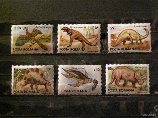 Румыния 1993 фауна Динозавры серия **