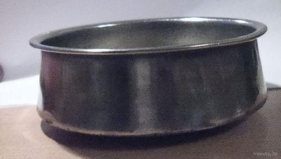 """Мельхиоровая чашка или капельница для очень большого самовара """"Товарищество Кольчугино 1896г"""".Царизм."""