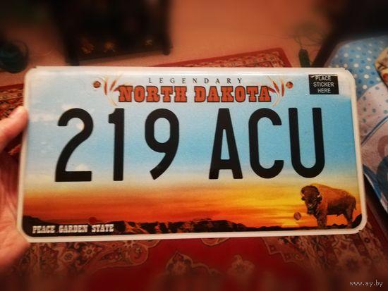 Автомобильный номерной знак США штат Северная Дакота