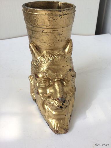 Карандашница  Мефистофель, черт литьё Силумин Клеймо СССР