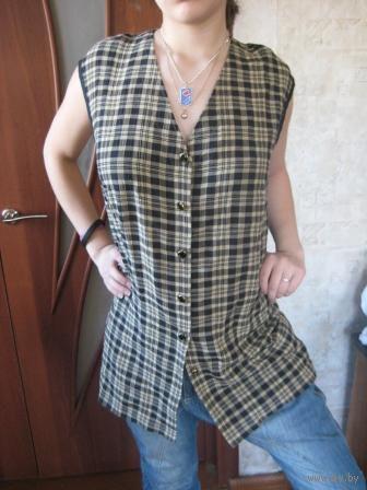 Блузка в модную клеточку  р.50