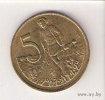 Эфиопия, 5 santeem, 1977г