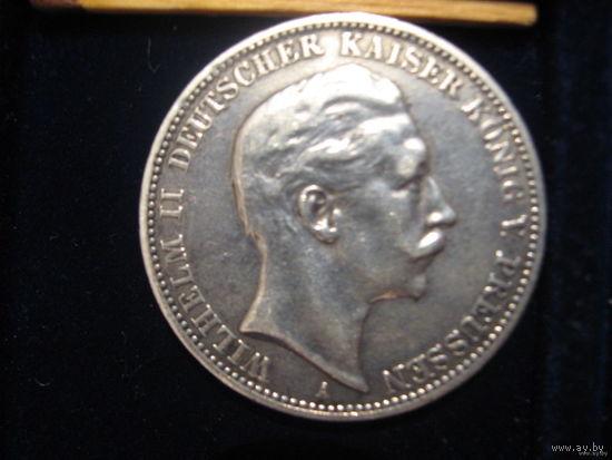 3 марки (Кайзер Вильгельм), 1909 г. Серебро