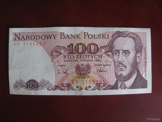 100 злотых 1988, Польша