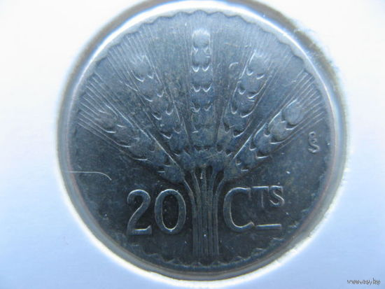 Уругвай 20 сентесимо 1942 г. серебро