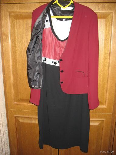 Нарядный костюм двойка от Nikole&Nikole, 54 размер, бу 2 раза