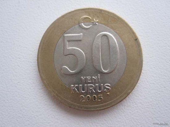 50 Курушей 2005 (Турция) биметалл