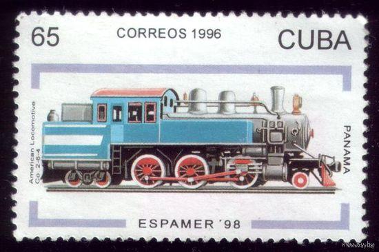 1 марка 1998 год Куба Локомотив