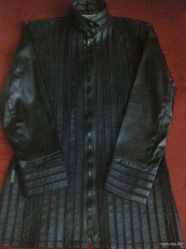 Оригинальный кожаный жакет