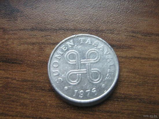 Финляндия 1 пенни 1976