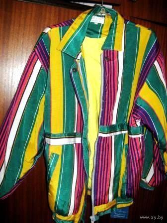 Куртка спортивная *МЕРКУРИЙ* на 46-48/ 164 . Как новая. Хлопок снаружи и внутри. УТЕПЛЕННАЯ.