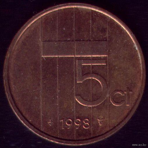 5 центов 1998 год Нидерланды