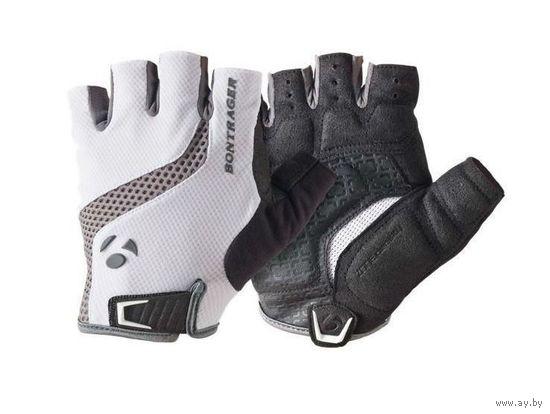 Велоперчатки Bontrager короткие пальцы белые, красные, черные