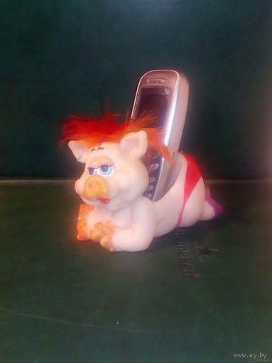 Свинка Хрюшка Подставка под мобильный телефон