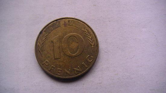 Германия 10 пфенингов 1990г J   No1 распродажа