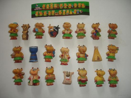 "Киндер набор из серии ""Мамуасы"" Бони керамика (22 фигурки +вкладыш)"