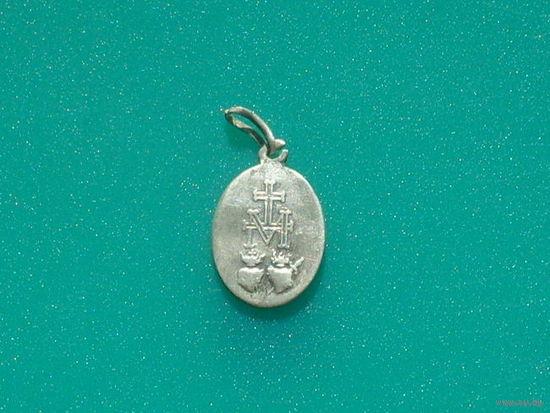 Cеребряный католический медальон