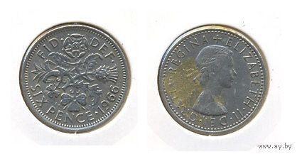 6 пенсов 1966  г.