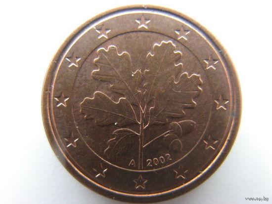 Германия 1 евроцент 2002г. (A)
