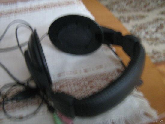 Наушники на голову с регулировкой под размер головы в сборе с микрофоном