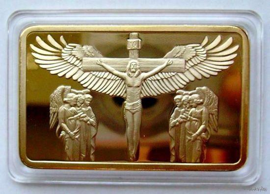 Слиток Иисус Христос Крылья позолота
