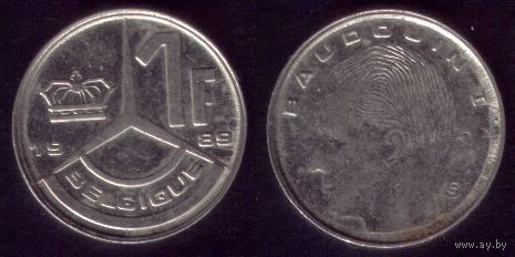 1 Франк 1989 год Бельгия No1
