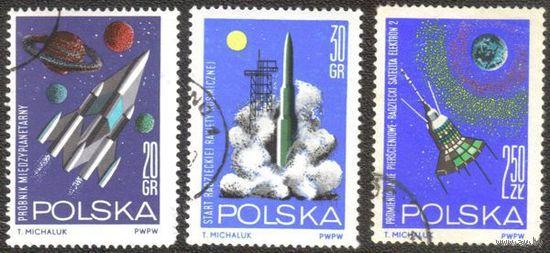 Польша 1964. Космос (3 шт)