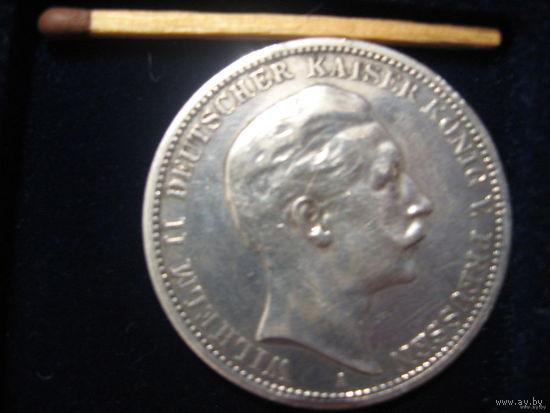 3 марки (Кайзер Вильгельм), 1912 г. Серебро