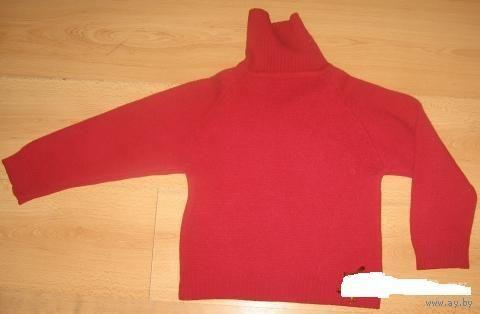 Очень теплый свитер на 6-7 лет (шерсть)