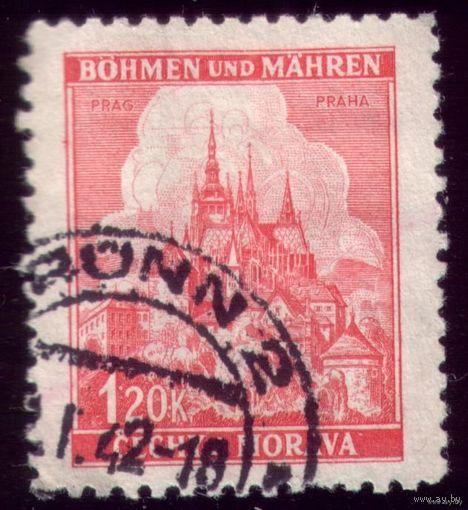 1 марка 1939 год Богемия и Моравия