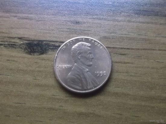 США 1 cent 1990