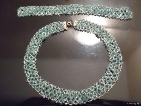 Браслет и ожерелье из бисера