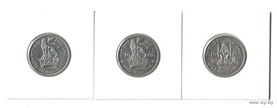 Серебро Великобритании! Шиллинги Георга V и Георга VI.