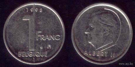 1 Франк 1998 год Бельгия No1