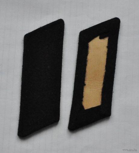 Петлицы на шинель СССР (черные, суконные)