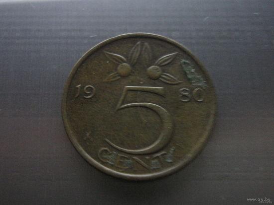 Нидерланды 5 центов 1980