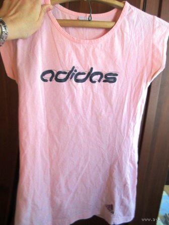Майка адидас импортная в модно светло розовом цвете р. 40-42