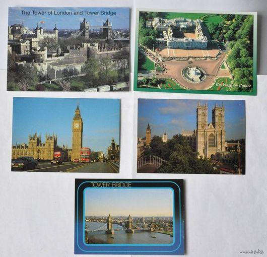 Почтовые карточки Великобритании (5 штук)