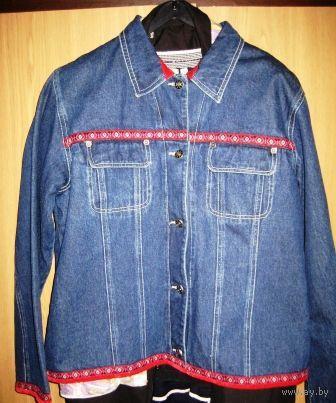 ПОДАРОК к Новому году-Джинсовый костюм-пиджак и брюки р.46  БельгияК праздникам СКИДКА 5000р.