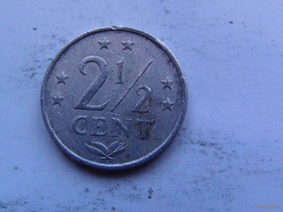 Нидерланд. Антиллы 2,5 цента 1982г распродажа
