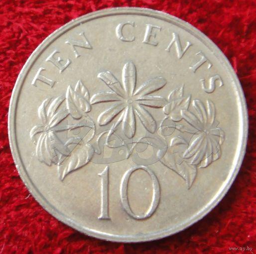7516:  10 центов 1989 Сингапур
